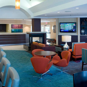 Sitting area of Residence Inn By Marriott Pensacola, FL Downtown