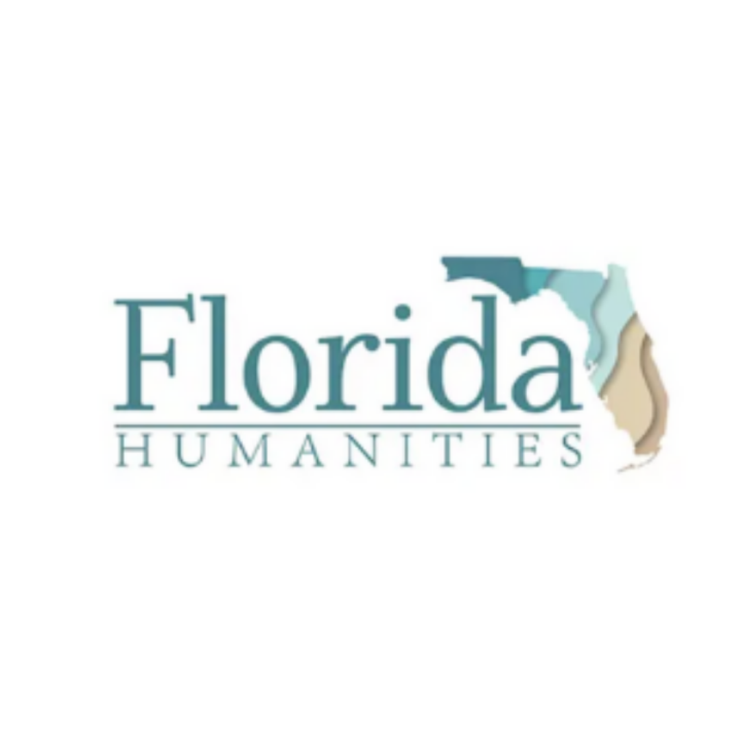 Florida Humanities Logo with an image of the state of Florida to the right